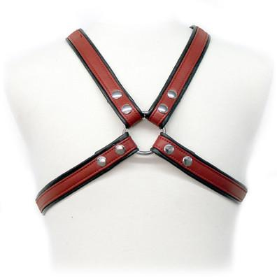 Leather Harness With Piping