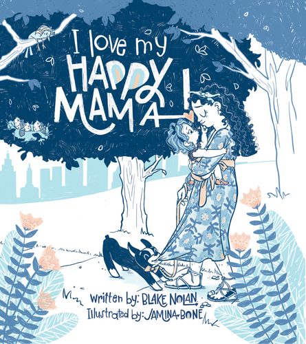Digital Copy of I Love My Happy Mama Book and Coloring Pages