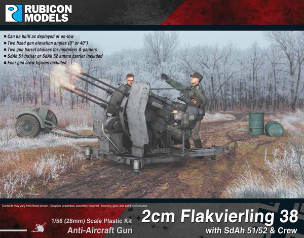 280073 - 2cm Flakvierling 38 with SdAh 51/52 Trailer & Crew