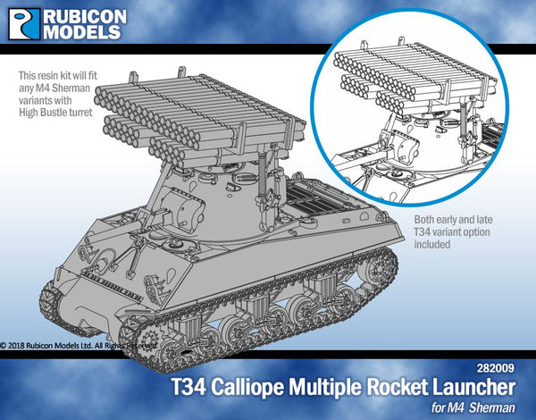 282009 - T34 Calliope Tank Mounted MRL for M4 Sherman