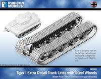 282021 - Tiger I Extra Detail Track Link with Steel Wheels - Resin