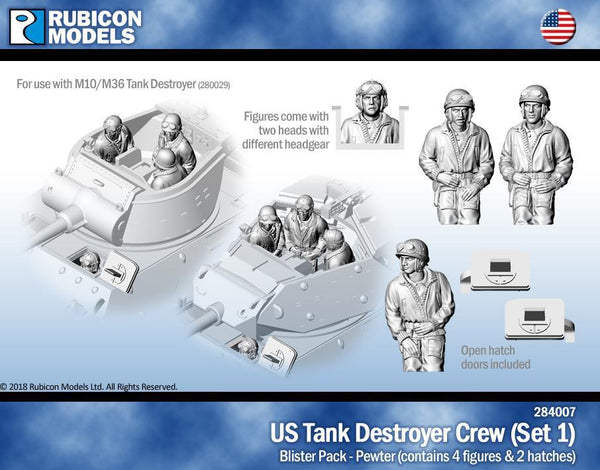 284007 - US Tank Destroyer Crew (Set 1)- Pewter