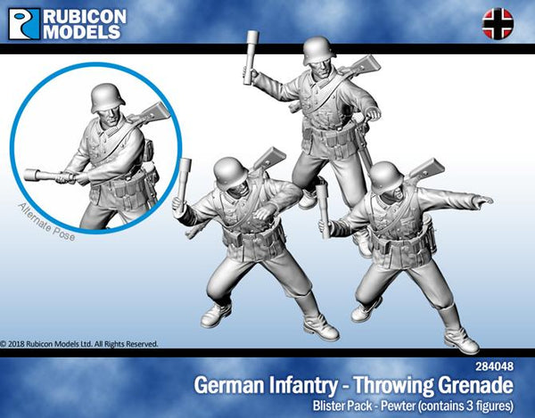 284048 - German Infantry - Throwing Grenade - Pewter