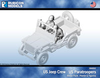 284052 - US Jeep Crew - US Paratrooper - Pewter