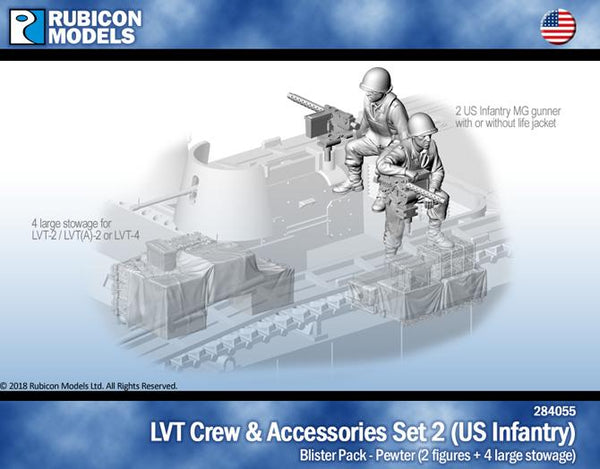 284055 - LVT Crew & Accessories Set 2 - US Infantry - Pewter