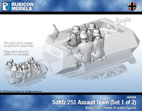 284056 - SdKfz 251/1 Assault Team (Set 1 of 2) - Pewter