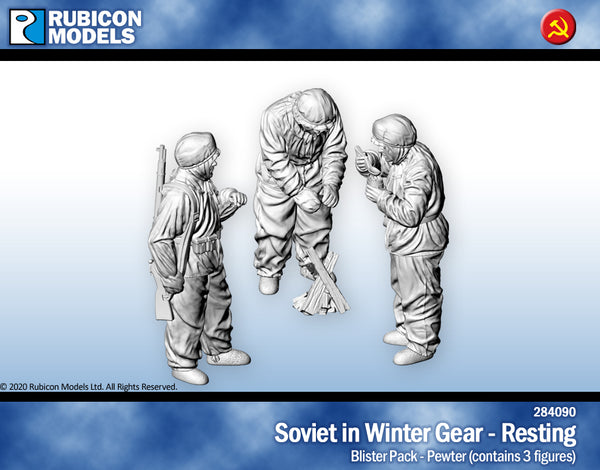 284090 - Soviet in Winter Gear - Resting - Petwer