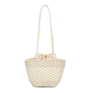 2019 New Fashion Women Handbag Hand Made Straw Woven Tote Large Capacity Summer Beach Party Shoulder Bag  BS88