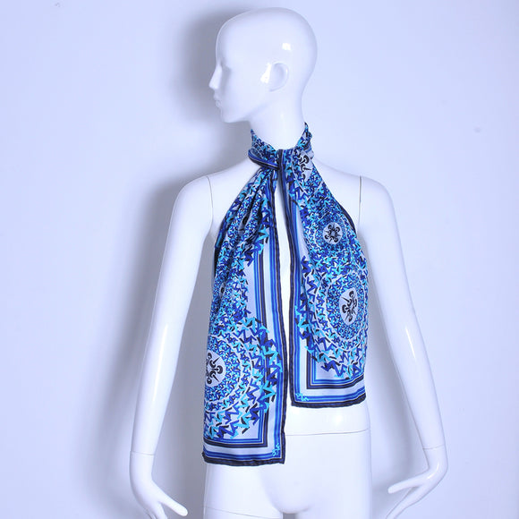 NF long scarf blue logo