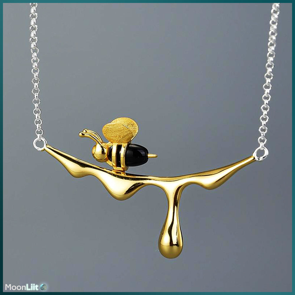 Golden Honey- 925 Sterling Silver Necklace
