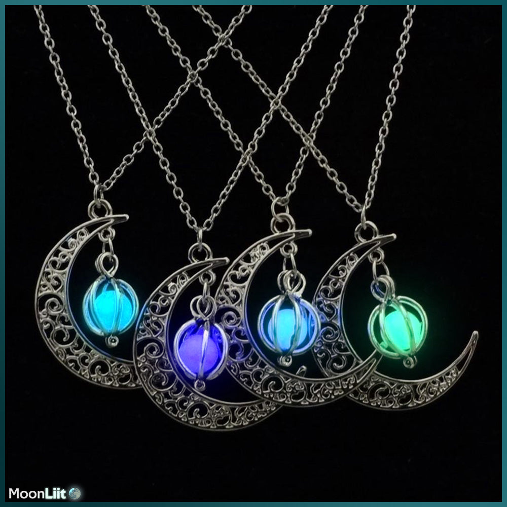 Luminous Half Moon - Pendant - MoonLiit