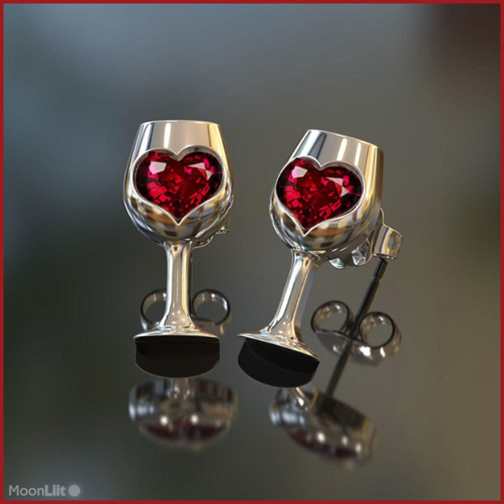 🍷 Wine Glass - Stud Earrings - MoonLiit