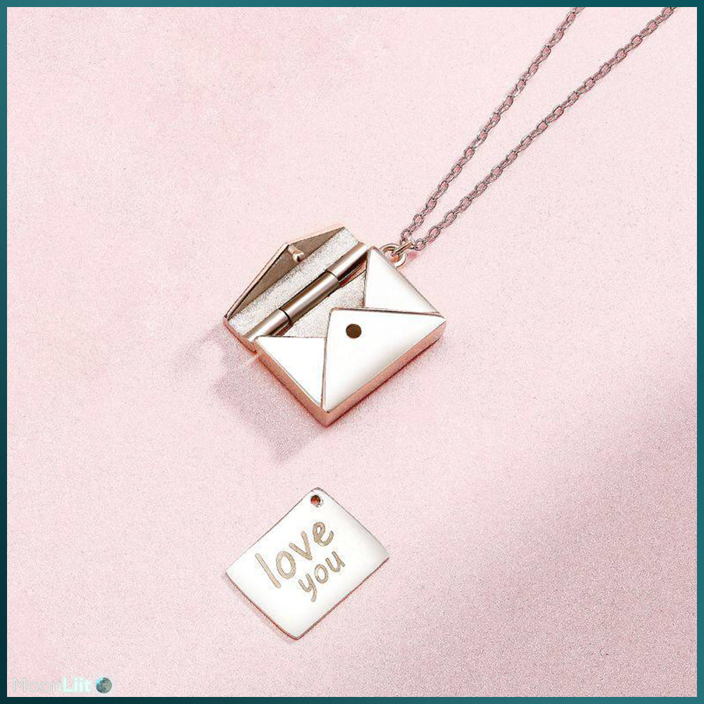 Authentic 925 Sterling Silver Love Letter Necklace