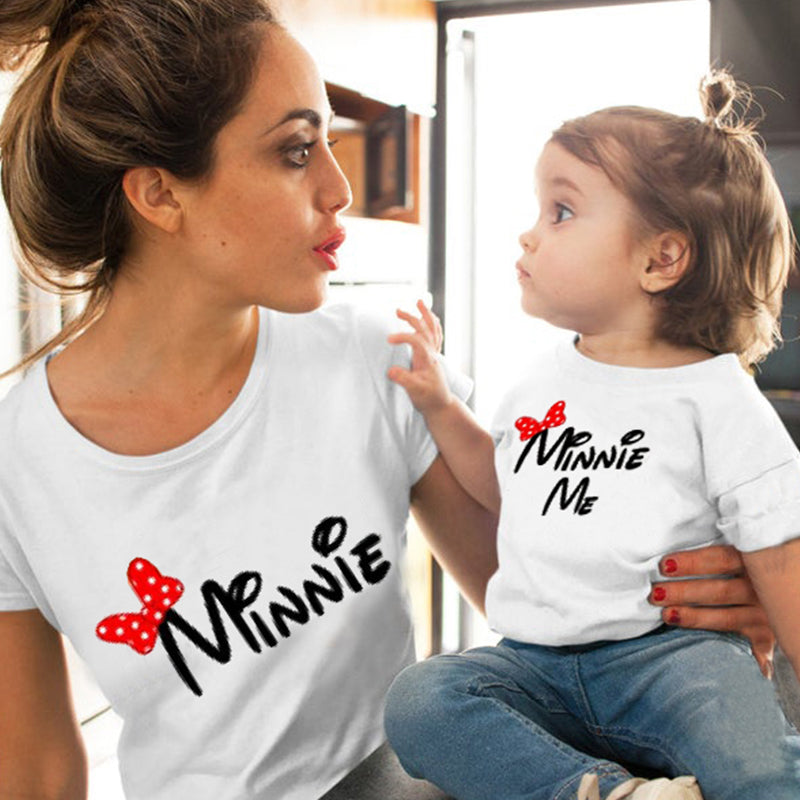 mother daughter matching clothes christmas family mommy and me clothing 2019 summer big sister little sister print cute love