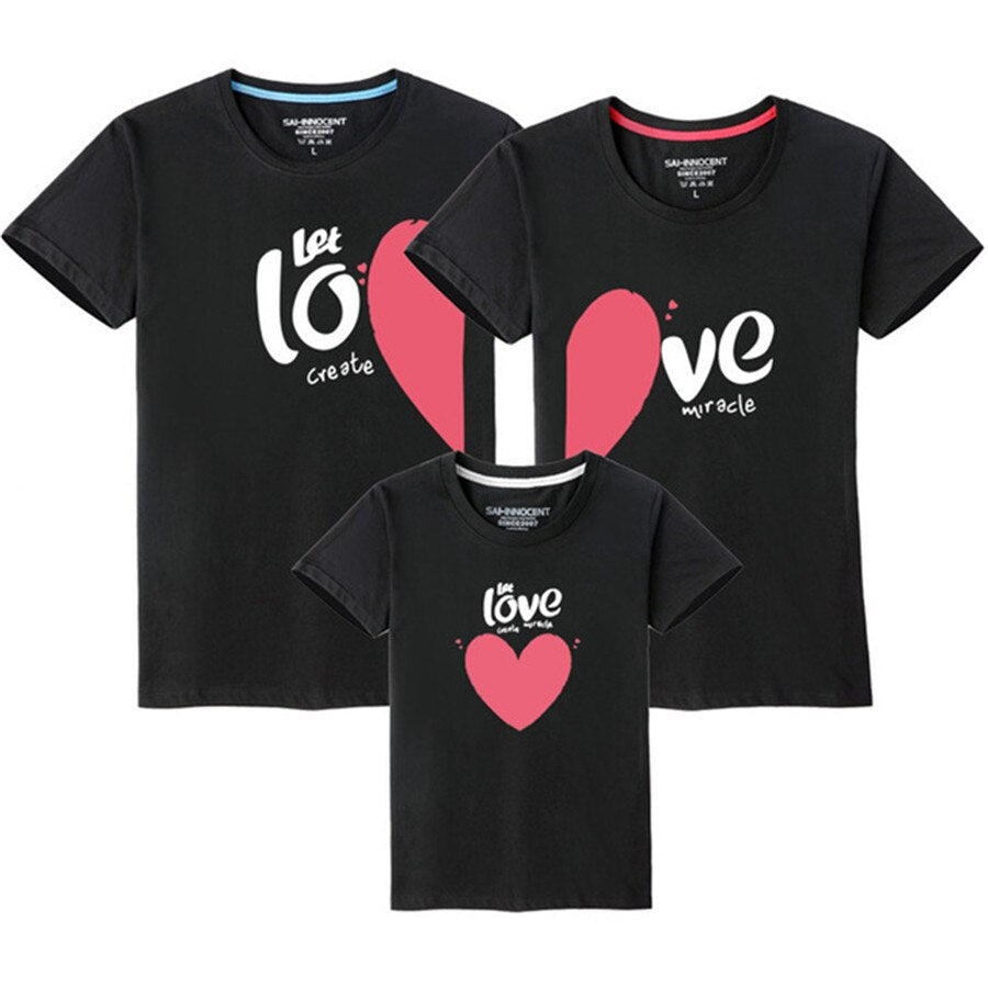 Family T shirts Quality Cotton Summer Style Matching Mother and Daughter Father and Son Clothes Mommy and Me Clothes