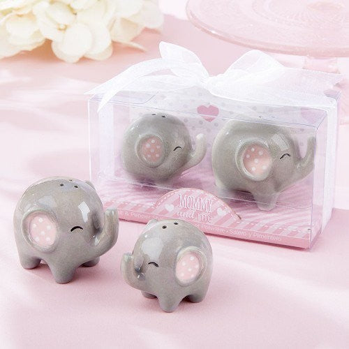 baby shower party favor presents for guests 'Mommy and Me-Little Peanut Elephant ceramic Salt and Pepper Shaker 100 sets/lot