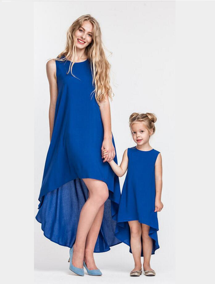 Mommy and Me Clothes Women Long Dresses Kids Dresses for Girls Mother and Daughter Clothes 2019 Fashion Family Matching Clothes