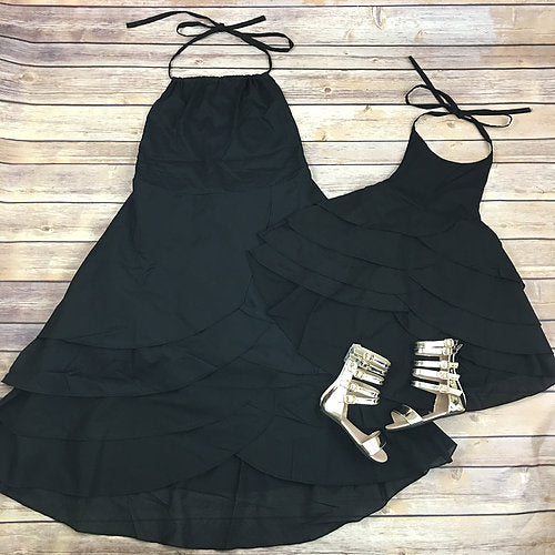 Sandy Beach Dress Mommy and Me Mother Daughter Dresses Backless Mom and Daughter Dress Clothes Family Look Matching Outfits Set