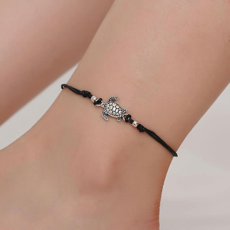 Boho Weave Turtle Pendant Anklets For Women 2018 Shell Anklet Bracelets On The Leg Bohemian Foot Ocean Jewelry Drop Shipping