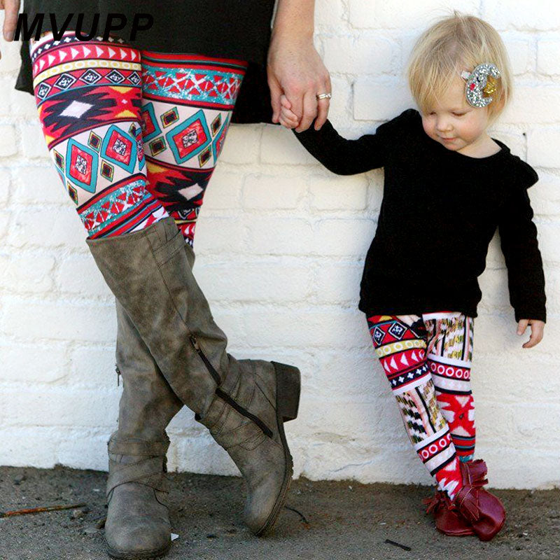 Fashion mother daughter clothes yago pants gym leggings family look for mommy and me girl matching outfits clothing mom baby nmd