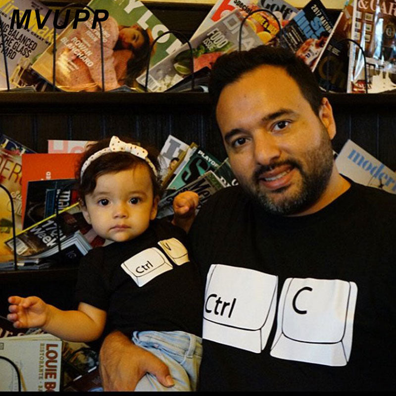 CTRL C V daddy mommy and me clothes mother daughter father son matching oufits dad mom baby family look t shirt tops tee summer