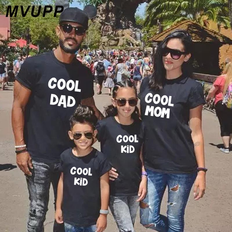 COOL dad mom kids family t shirt for mother daughter father son clothes mommy and me matching outfits mom baby clothing look mum