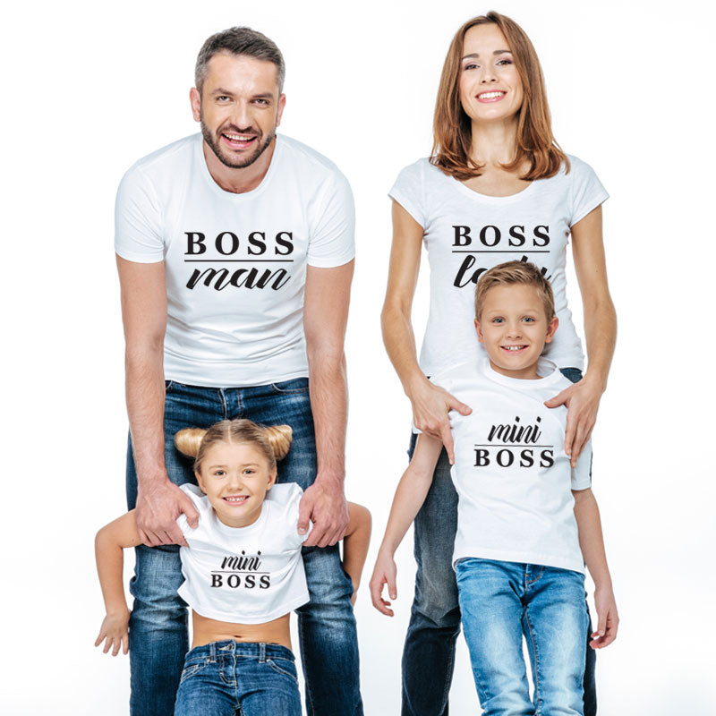 father son mother daughter family matching clothes mommy and me look t shirt oufits mini boss men mum mom daddy baby clothing