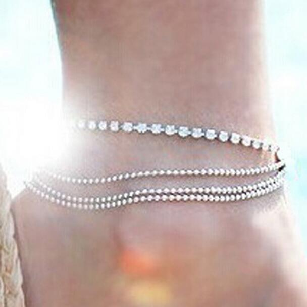 Miss JQ New Arrival 2019 Silver Color Anklet For Women Fashion Bohemian Beach Jewelry Accessories foot bracelet enkelband