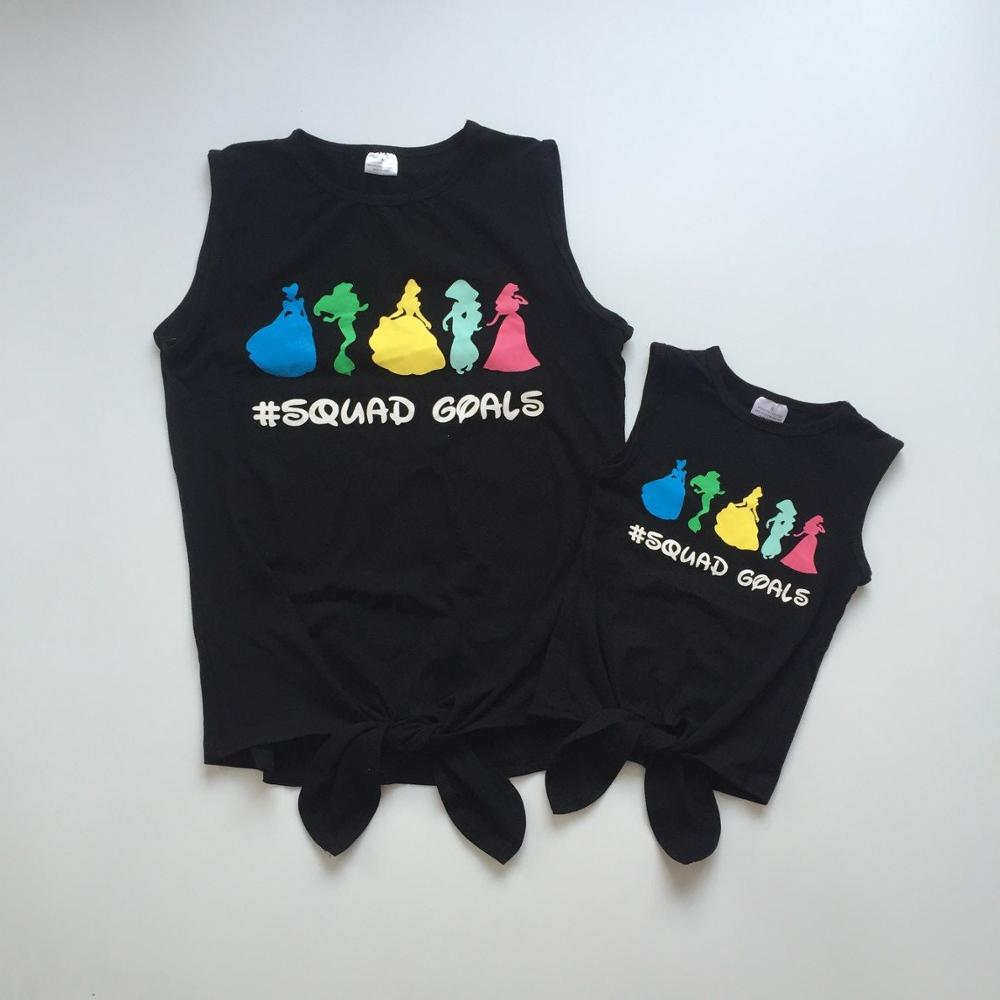 "Mommy me clothes girls summer waistcoat ""squad goals"" waistcoat MOM and ME boutique clothes"