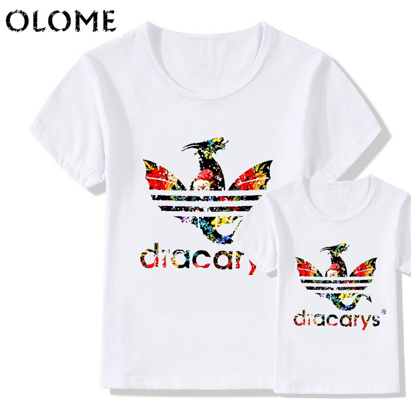 Family matching clothes Dracarys father mother daughter son tshirt Mother of Dragon clothing daddy mommy and me baby Camisetas