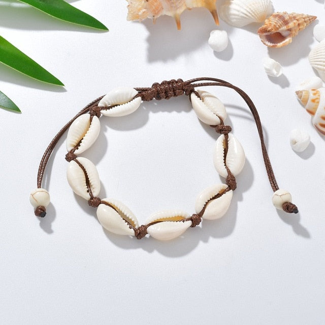 Terreau Kathy Anklets for Women shell Foot Jewelry Summer Beach Barefoot Bracelet ankle on leg  Ankle strap Bohemian Accessories