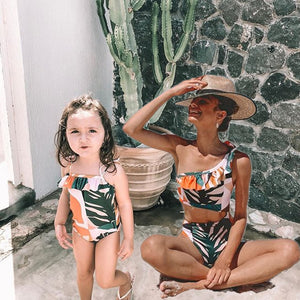 Mommy And Me Matching Swimsuit Floral Mother Daughter Swimwear Family Look Mommy And Me Bathing Suit Family Matching Swimwear