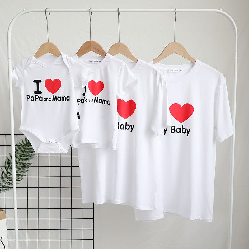 love Tshirt family matching clothes look mother daughter dad son tshirts mommy and me clothes mom baby tee shirts family outfits
