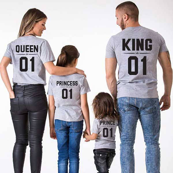 Mommy And Me Clothes Princess Dress Mother And Daughter Family Matching Outfits Looks T Shirt Daddy Mom Baby Girl Clothes