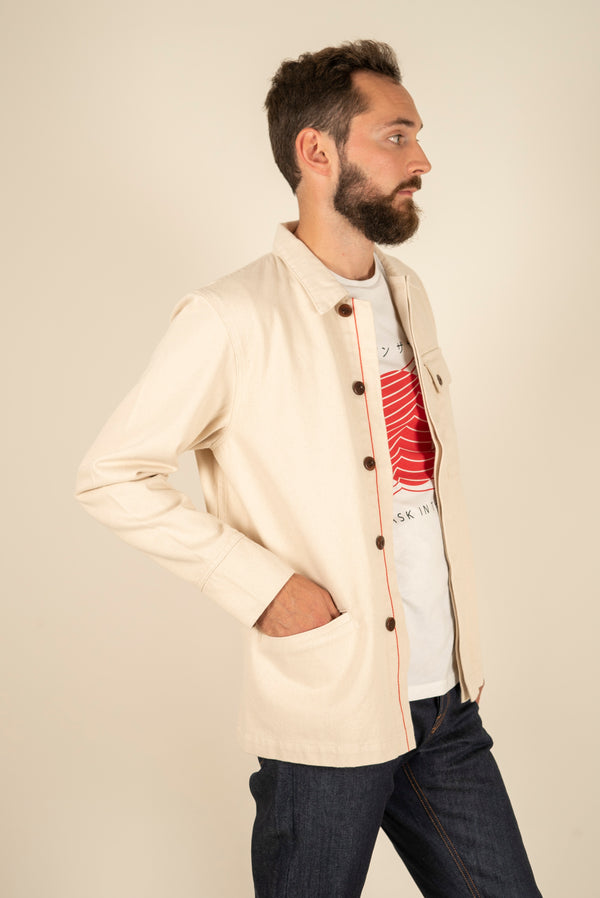 Jacket, organic cotton, coton bio, men fashion, mode responsable, mode éthique, mode durable, paris