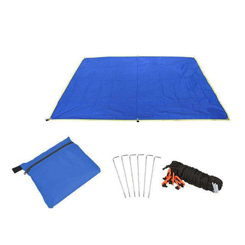 Waterproof Outdoor Tent Tarp with Ground Blanket