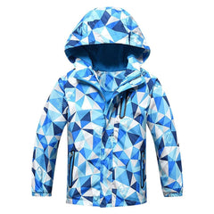 Kids Outdoor Waterproof Hoodie Jacket