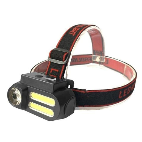 LED Lantern Headlamp with USB Rechargeable 18650 battery