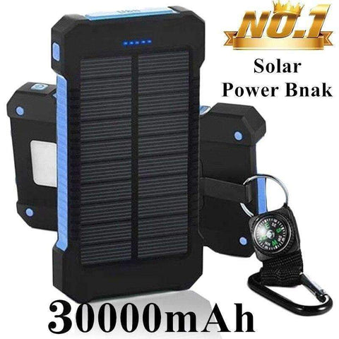 Solor Power Bank 30000mAh Mobile External Battery