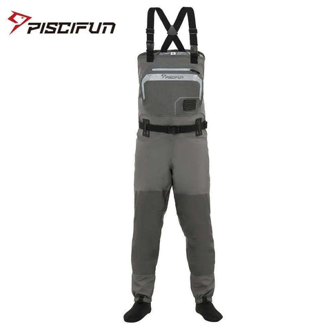Piscifun 3-Layer Polyester Breathable Waterproof Fishing Chest Waders