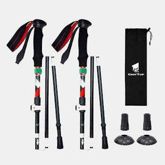 Ultralight Aluminum Telescopic Trekking Pole 3-Section