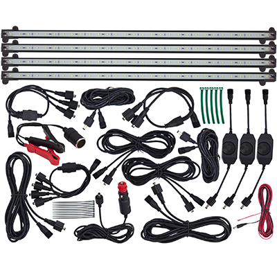 12v Camping 4 Light Bar Kit by Mean Mother 4x4
