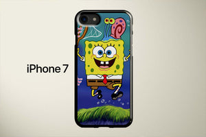 SpongeBob And Jelly Fish Apple iPhone 7 Cover Case