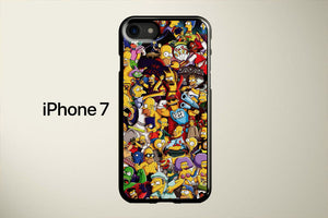 The Gangs All Here Simpsons Apple iPhone 7 Cover Case