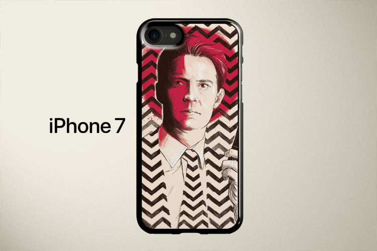 Twin Peaks Push Record Agent Dale Cooper Apple iPhone 7 Cover Case