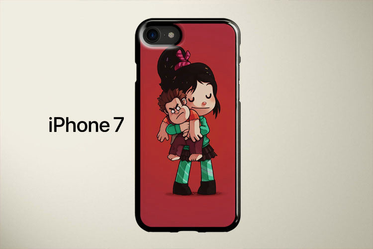 Vanellope Hugs Ralph Apple iPhone 7 Cover Case