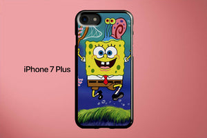 SpongeBob And Jelly Fish Apple iPhone 7 Plus Cover Case