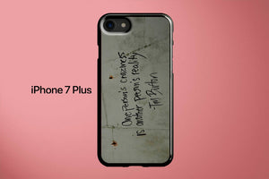 Tim Burton Quote Apple iPhone 7 Plus Cover Case