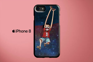 Monkey D Luffy One Piece Galaxy Apple iPhone 8 Cover Case