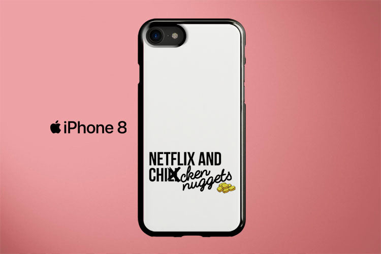 Netflix And Chicken Nuggets Apple iPhone 8 Cover Case
